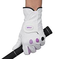 指が長く見えるデザイン、手首長め仕様で日焼け防止。やさしい「女性快適設計」グローブPGL-17に鮮やかなパープルカラーが登場!