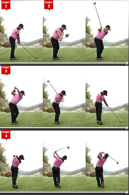 写真 連続 ゴルフ スイング