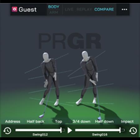 PRGR GINZA EXに独自開発モーションキャプチャー『Swing Scan』を導入!より詳細なスイング解析が可能に!